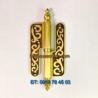 Giá bán mẫu Bản lề cối bằng đồng dài 140 mm dùng cho cánh cửa gỗ cỡ lớn giá rẻ tại Hà Nội