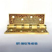 Nơi bán bản lề lá đồng cao cấp 305 hoa văn chữ Vạn