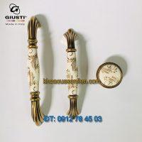 Nơi bán Bộ tay nắm tủ tân cổ điển M70-M71.01.G7.A8G họa tiết ánh vàng của Giusti nhập khẩu từ Italy tại Hà Nội