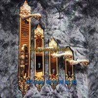 Báo giá nơi bán Bộ khóa cửa bàng đồng tân cổ điển dùng cho cửa gỗ K-003