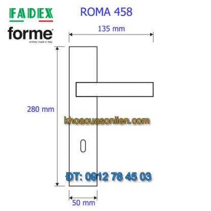 Nơi bán Khóa cửa tay gạt cổ điển Roma 458 của Forme (FADEX) tại Hà Nội
