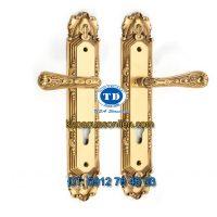 Báo giá khoá cửa chính tay gạt đồng TD BDH-128135-2