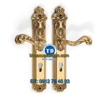 Báo giá khoá cửa chính tay gạt đồng TD BDH-179266-2