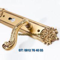 Báo giá khoá cửa chính tay gạt đồng TD BDH-341341-2
