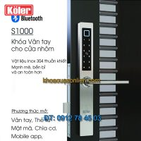 Nơi bán Khóa thông minh cho cửa nhôm xingfa, nhựa lõi thép, cửa gỗ đố nhỏ Koler S1000 giá rẻ tại Hà Nội