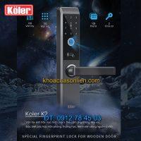 Nơi bán Khóa cửa thông minh smart lock vân tay siêu nhạy 4 in 1 Koler K2 giá rẻ tại Hà Nội