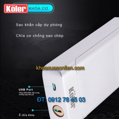 Nơi bán Khóa cửa điện tử smart lock vân tay có khóa cơ 4 in 1 Koler A1-Black giá rẻ ở Hà Nội