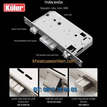 Nơi bán Khóa cửa điện tử smart lock vân tay siêu nhạy 4 in 1 Koler A1-Black giá rẻ ở Hà Nội