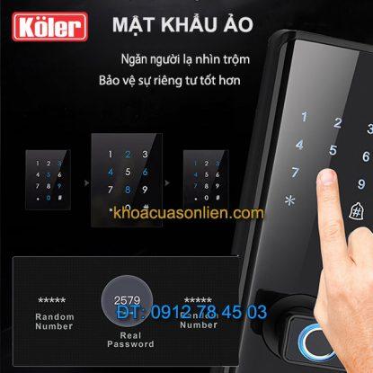 nơi bán Khóa cửa điện tử smart lock vân tay mật khẩu ảo 4 in 1 Koler A1-Black giá rẻ ở Hà Nội