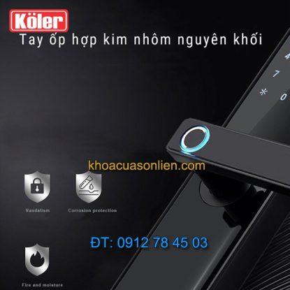Nơi bán Khóa cửa điện tử smart lock vân tay siêu nhạy 4 in 1 Koler A1-Black ở Hà Nội