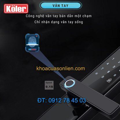 nơi bán Khóa cửa điện tử smart lock vân tay siêu nhạy 4 in 1 Koler A1-Black tại Hà Nội