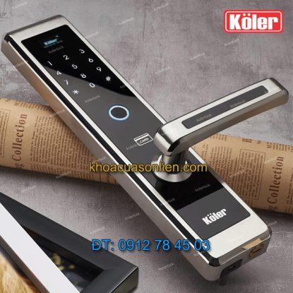 Báo giá Khoá cửa điện tử 4 in 1 Koler KL-9850-SS - khóa cửa thông minh