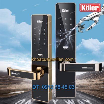 Báo giá khoá cửa điện tử 3 in 1 Koler KL9820 - khóa cửa thông minh
