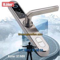 Nơi bán Khóa cửa thông minh vân tay Koler S1500 cho cửa nhôm xingfa, cửa nhựa lõi thép, cửa sắt hộp, cửa gỗ đố nhỏ giá rẻ tại Hà Nội