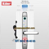 Nơi bán Khóa cửa vân tay Koler S8000 cho cửa nhôm, cửa nhựa lõi thép, cửa sắt hộp, cửa gỗ đố nhỏ giá rẻ tại Hà Nội