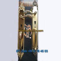 Báo giá nơi bán mẫu Khóa đại sảnh bằng đồng cho cửa gỗ K-004-DS kiểu tẩn cổ điển giá rẻ tại Hà Nội