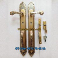 Nơi bán mẫu Khóa đồng đại sảnh cho cửa gỗ kiểu dáng tân cổ điển K-005-DS giá rẻ tại Hà Nội