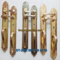 Báo giá nơi bán mẫu Khóa đồng đại sảnh cho cửa gỗ kiểu dáng tân cổ điển K-005-DS giá rẻ tại Hà Nội