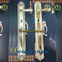 Báo giá mẫu Khóa đồng đại sảnh tay gạt tân cổ điển cho cửa gỗ K-006-DS giá rẻ tại Hà Nội