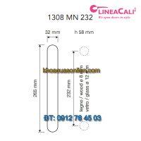 Báo giá tay nắm cửa dạng thanh Tiffany 1308-MN-232 của Linea Calì