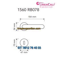 Báo giá khoá cửa thông phòng tay gạt Jardin 1560-RB078 của Linea Calì