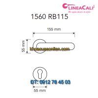 Báo giá Khoá cửa thông phòng tay gạt Jardin 1560-RB115 của Linea Calì