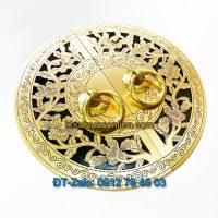 Nơi bán mẫu Mặt bích trang trí tủ bằng đồng kèm tay giật tròn, hoa văn giả cổ giá rẻ tại Hà Nội