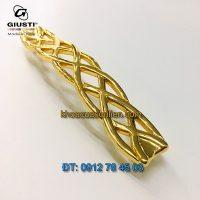 Báo giá Mẫu tay cửa tủ dây đan mạ vàng 24K Giusti WMN746.128.00GP 128mm Italy xịn nhập khẩu chính hãng giá rẻ tại Hà Nội