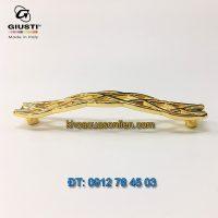 Bảng giá Mẫu tay cửa tủ dây đan mạ vàng 24K Giusti WMN746.128.00GP 128mm Italy xịn nhập khẩu giá rẻ tại Hà Nội