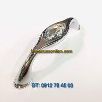 Nơi bán Mẫu tay tủ hợp kim mạ trắng bóng đính giả đá 6263 - 96mm đẹp giá rẻ tại Hà Nội