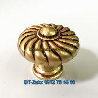 Báo giá nơi bán mẫu Núm tủ tròn vân xoáy bằng đồng thau NT-001 đường kính 35mm giá rẻ tại Hà Nội