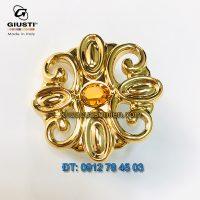 Báo giá mẫu Núm cửa tủ đính pha lê Swarovski, mạ vàng 24K kiểu cổ điển của Giusti Ý xịn, nhập khẩu chính hãng giá rẻ tại Hà Nội