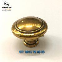 Nơi bán Núm cửa tủ tròn màu đồng WPO2025/30.00A8 30mm của Giusti nhập khẩu Italy tại Hà Nội