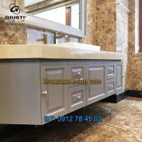 Nơi bán mẫu Núm cửa tủ tròn màu ghi WPO2025/30.00F7 30mm của Giusti nhập khẩu Italy giá rẻ tại Hà Nội