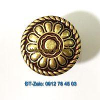 Báo giá nơi bán mẫu Núm tủ hoa bằng đồng vàng-đỏ đường kính 32mm NT-003 giá rẻ tại Hà Nội