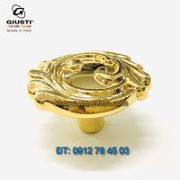 Nơi bán Núm tủ mạ vàng tân cổ điển WP0837.000.00GP 37mm Giusti - Italy nhập khẩu chính hãng tại Hà Nội