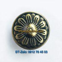 Báo giá nơi bán mẫu Núm tủ tròn hoa hợp kim màu rêu đen NT-002 đường kính 30mm giá rẻ tại Hà Nội