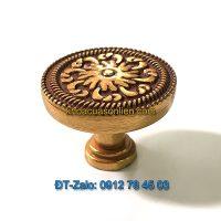 Báo giá nơi bán mẫu Núm tủ tròn hoa văn chìm màu vàng đỏ 829 đường kính 30mm giá rẻ tại Hà Nội