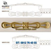 Nơi bán mẫu Tay co tủ cổ điển mạ vàng 24K WMN791 96mm và 128mm của Giusti nhập khẩu Italy giá rẻ tại Hà Nội