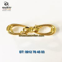 Báo giá mẫu Tay co tủ hình số 8 mạ vàng 24K WMN636.096.00GP của Giusti nhập khẩu Italy giá rẻ tại Hà Nội