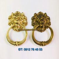 Nơi bán Tay nắm cổng bằng đồng hình đầu sư tử loại nhỏ đường kính đầu 10cm giá rẻ tại Hà Nội