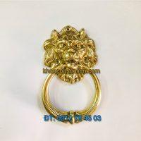 Báo giá Tay nắm cổng bằng đồng hình đầu sư tử loại nhỏ đường kính đầu 10cm giá rẻ tại Hà Nội
