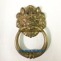 Nơi bán Tay nắm cổng đầu sư tử bằng đồng loại đại đường kính đầu 20cm giá rẻ tại Hà Nội