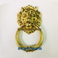 Nơi bán Tay nắm cổng đầu sư tử loại trung đường kính đầu 13,5cm bằng đồng giá rẻ tại Hà Nội