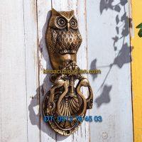 Nơi bán Tay nắm cửa chính trang trí hình chim cú mèo giá rẻ tại Hà Nội