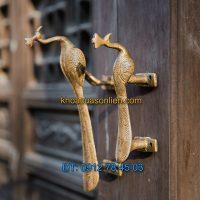 Báo giá Tay nắm cửa decor hình chim công cho cửa đi, cửa tủ đẹp giá rẻ tại Hà Nội