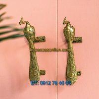 Nơi bán Tay nắm cửa trang trí hình chim công cho cửa đi, cửa tủ đẹp giá rẻ tại Hà Nội