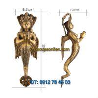 Nơi bán Tay nắm cửa đi trang trí hình thần rắn Naga chắp tay tại Hà Nội