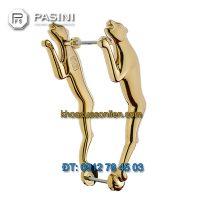 Báo giá Tay nắm cửa gỗ cao cấp hình Báo mạ vàng PVD của Pasini nhập khẩu Italy