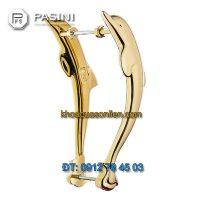 Báo giá Tay nắm cửa cao cấp đẹp hình Cá heo mạ vàng PVD của Pasini nhập khẩu Italy
